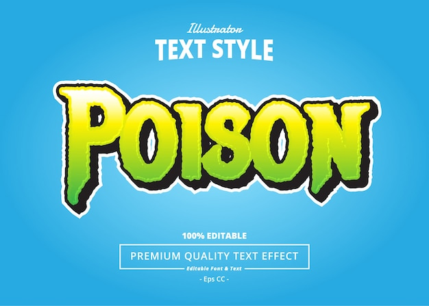Poison text effect