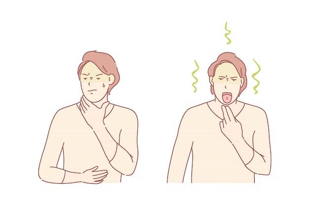 Poisoning symptoms illustration