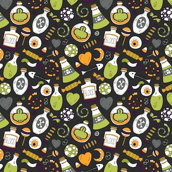Poisonous halloween pattern