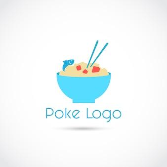 Poke food logo logo design