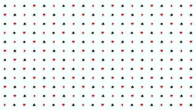 ポーカーとカジノのポーカーカードスーツのパターン