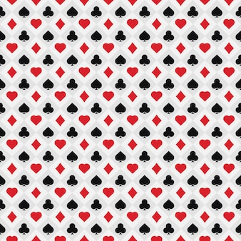 Poker card pattern .