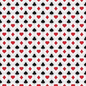 Poker card pattern .