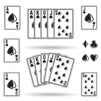 Poker cards combinations