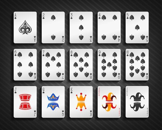 포커 카드 스페이드 세트