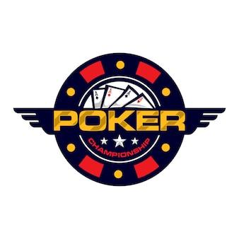 Poker championship badge logo