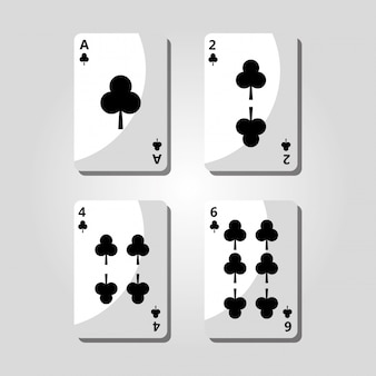 Poker clover cards game risk fortune icon