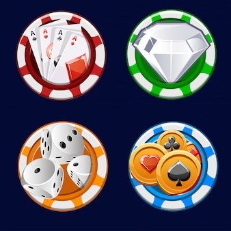 Poker icon color chips