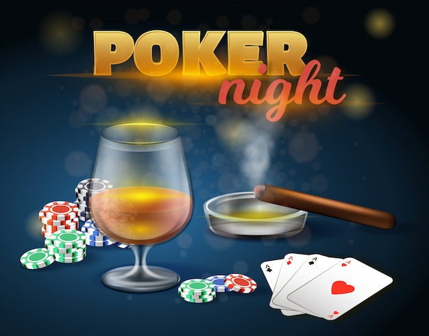Poker night gambling games in casino.