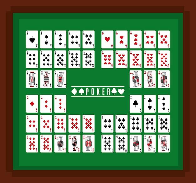 Покерные игровые карты казино на столе
