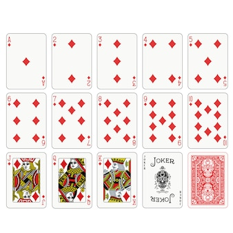 Poker playing cards design