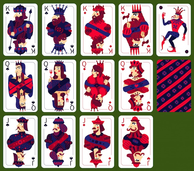 Poker playing high cards set