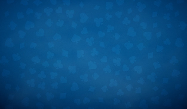 Poker table background in blue color.