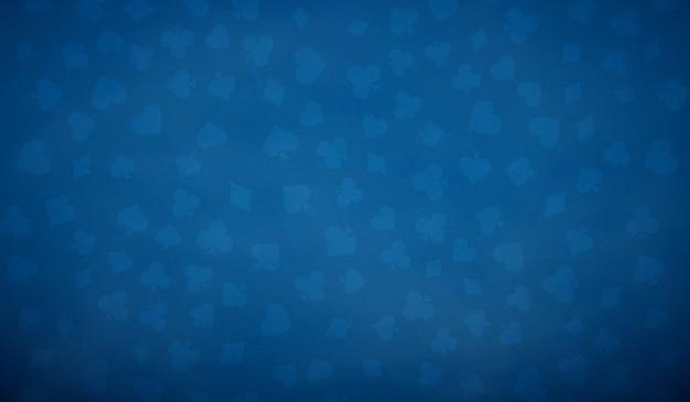 青い色のポーカーテーブルの背景。
