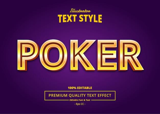 Poker text effect