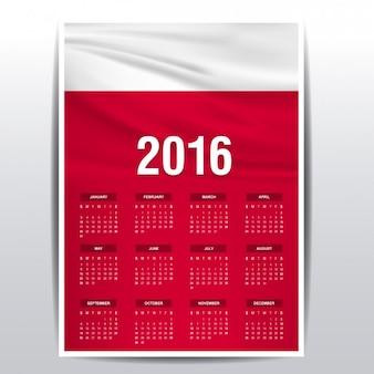 Poland calendar of 2016