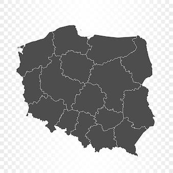 Польша карта изолированных рендеринга