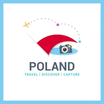 Poland travel symbol