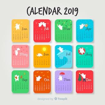 Polar bear calendar 2019