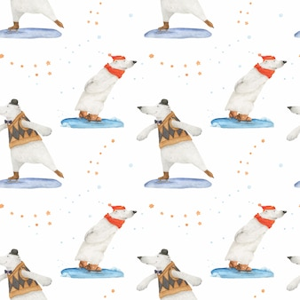 Polar bear christmas story for wrapping paper