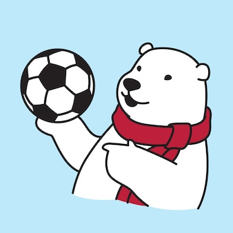 Polar bear football soccer