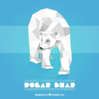 Белый медведь в низком стиле поли