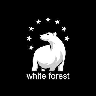 Polar bear logo design wild animaldesign element
