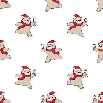 シロクマのシームレスパターン