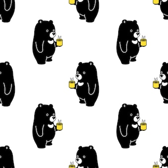 Polar bear seamless pattern