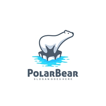 Polar bear vector template