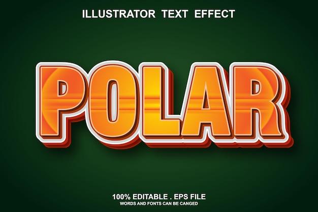 Polar text effect editable