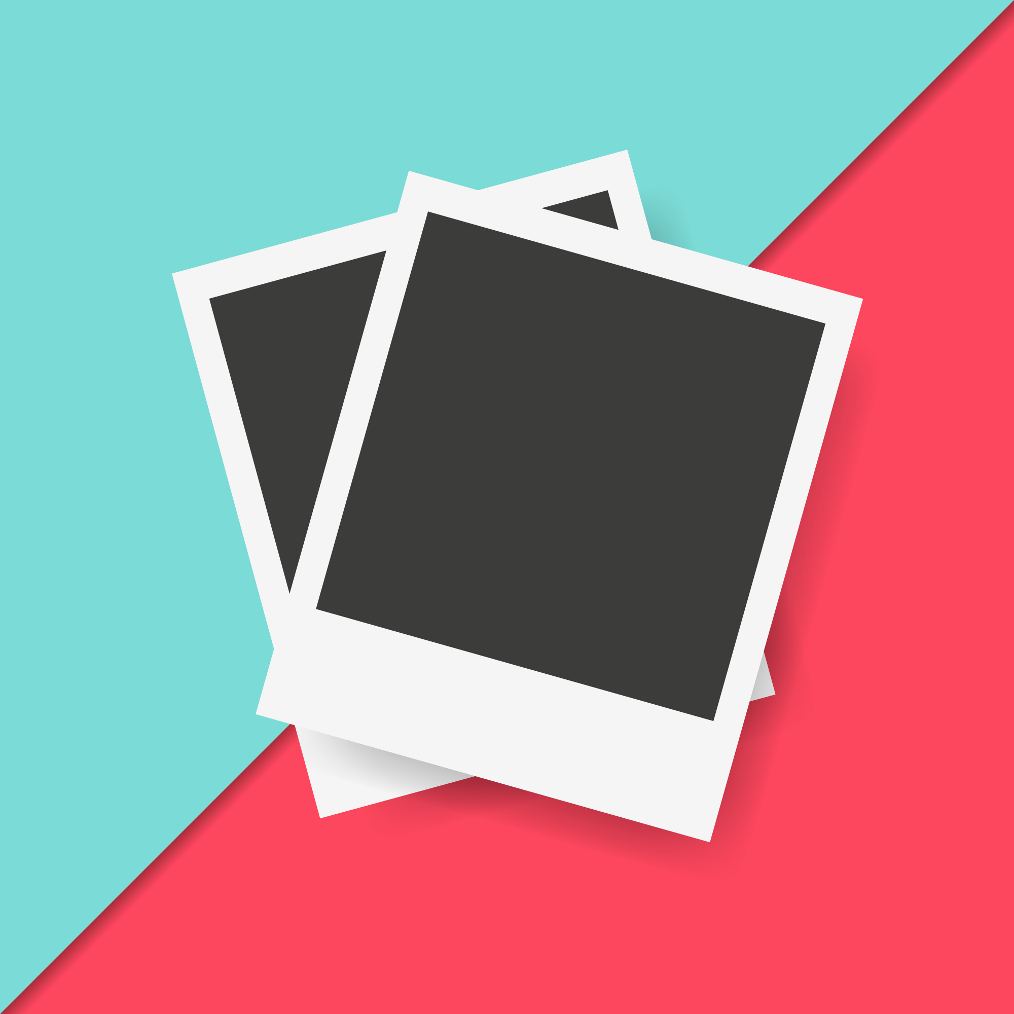 Polaroid Frames in Colorful Background