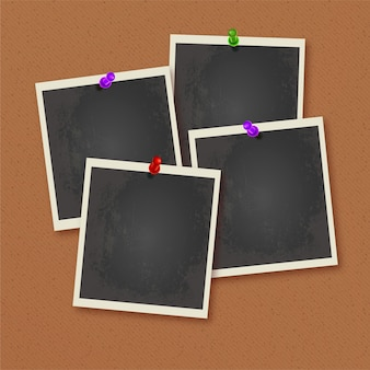 Polaroid фоторамки возлагали на стене