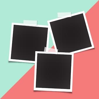 Шаблон рамки polaroid