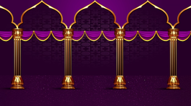 Pole column  islamic holiday background