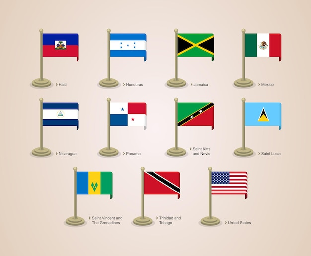 Pole flag cute and attractive of north america countries part 02