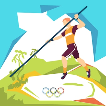 Pole vaulting summer rio olympics games