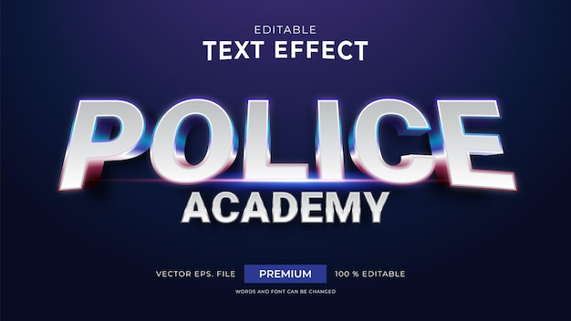 Police academy editable text effects