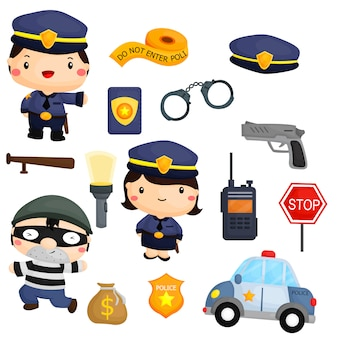 警察と強盗