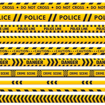 Police black and yellow line do not cross.