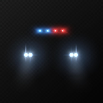 パトカーのヘッドライト