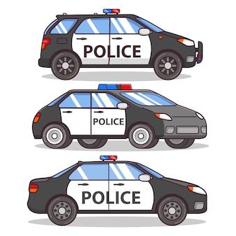Police car side view.patrol car sedan.