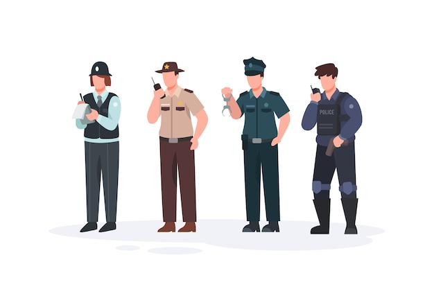 Police collection concept