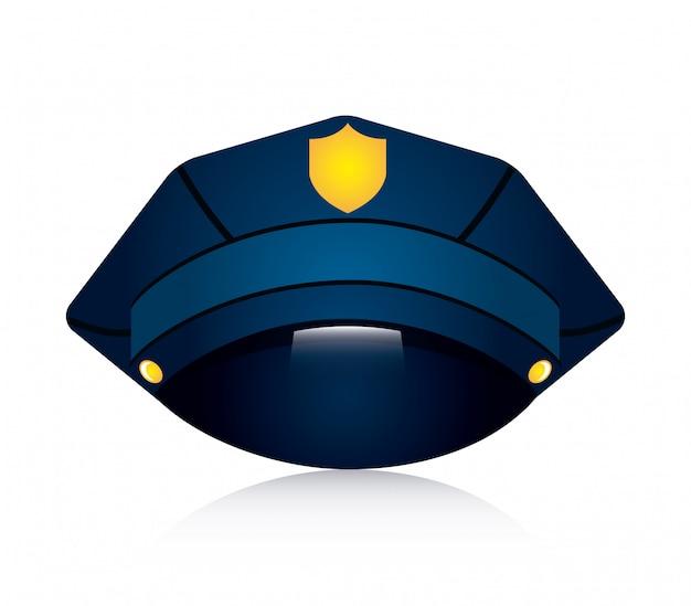白い背景の上の警察のデザインベクトルイラスト