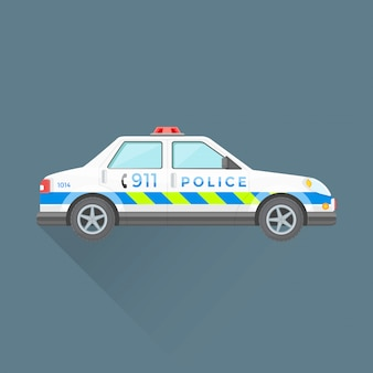 Police emergency service car illustration