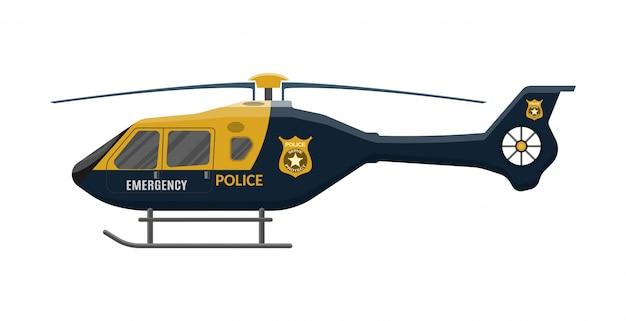 Полицейский вертолет значок. самолет.