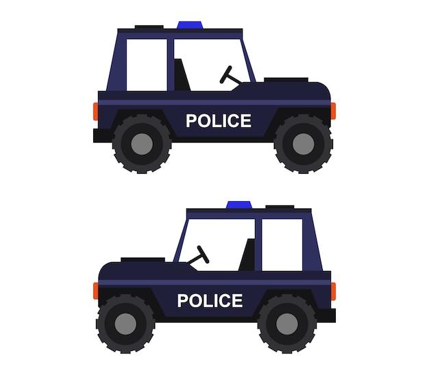 Police jeep