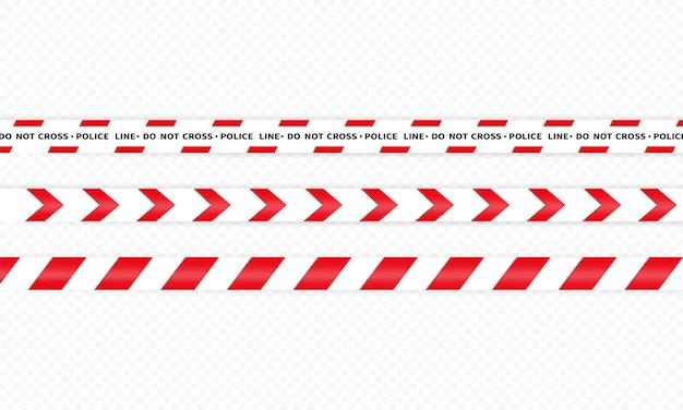 경찰 라인 아이콘입니다. 교차하지 마십시오. 경고. 격리 된 흰색 배경에 벡터입니다. eps 10.