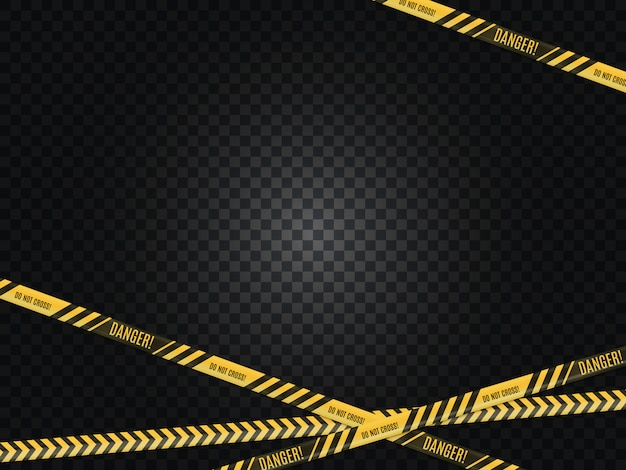 Полицейские линии. место преступления. предупреждение об опасности.