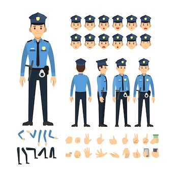 Police man character set